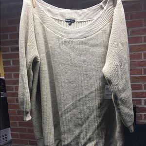 Charlotte Russe Chunky knit 3/4 sleeve sweater